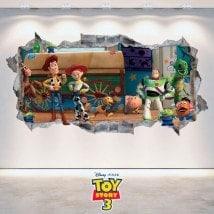 Mur décoratif vinyl Toy Story 3 cassé 3D