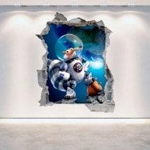 Cassé mur de vinyle décoratif 3D Age de glace 5