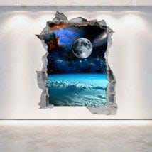 Planètes et espace 3D de vinyle