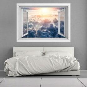 Rayons 3D Windows du soleil dans les nuages
