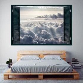 Windows 3D nuages et des rayons du soleil