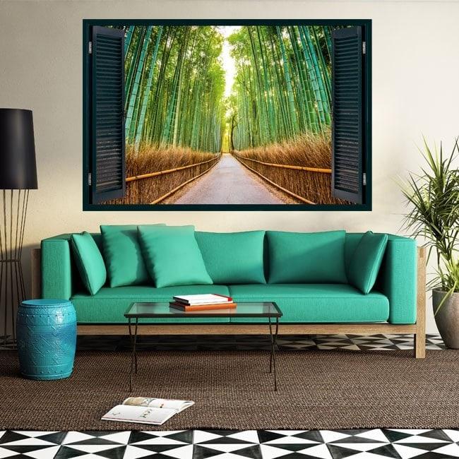Bambous et route 3D Windows