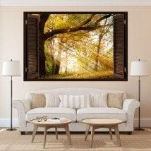 Nature des arbres 3D fenêtre