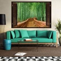 Échelles de fenêtre 3D bambou
