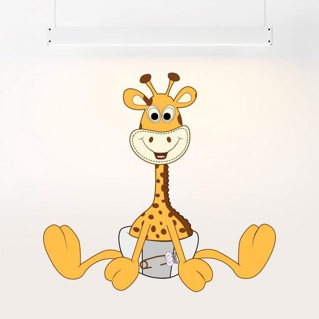 Girafe pour enfants en vinyle en couches