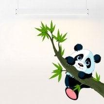 Ours de vinyle pour enfants arbre de direction et Panda