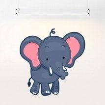 Éléphant enfant vinyle