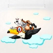 Vinyle pour enfants animaux dans les nuages