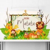 Vinyle de Hakuna Matata pour l'enfance