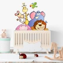 Animal de vinyle adhésif pour enfants Zoo