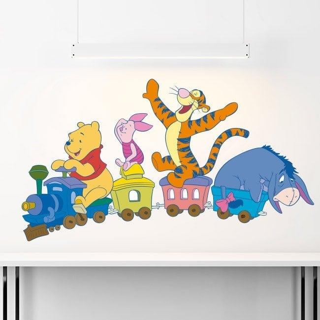 Train de vinyle pour enfants Winnie l'ourson