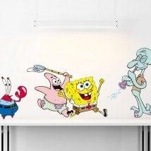 Autocollants en vinyle pour enfants SpongeBob SquarePants Kit