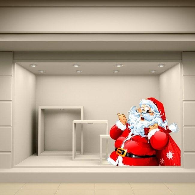 Autocollants de Noël père Noël