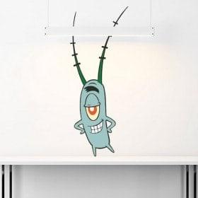 Autocollants Bob l'Eponge Plankton