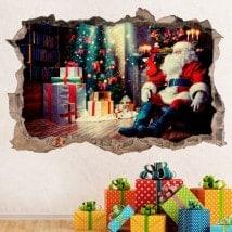 Vinyle de Noël père Noël 3D