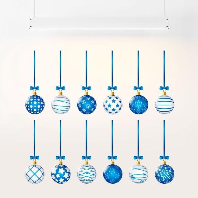 Boules de Noël autocollants