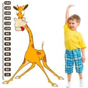 Girafe mesure vinyle pour enfants