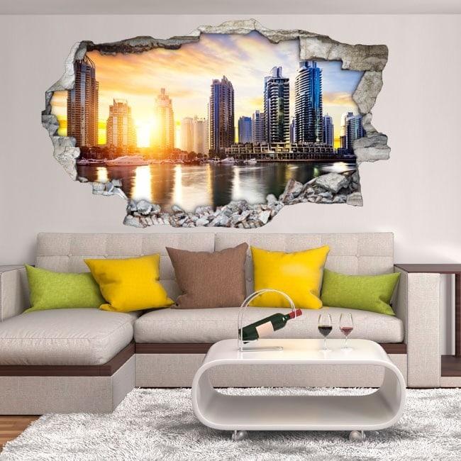 Vinyl 3D Puerto marin Dubaï