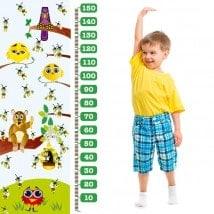 Pour enfants en vinyle compteur abeilles et oiseaux