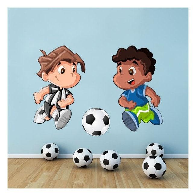 Vinyl enfants jouer au soccer