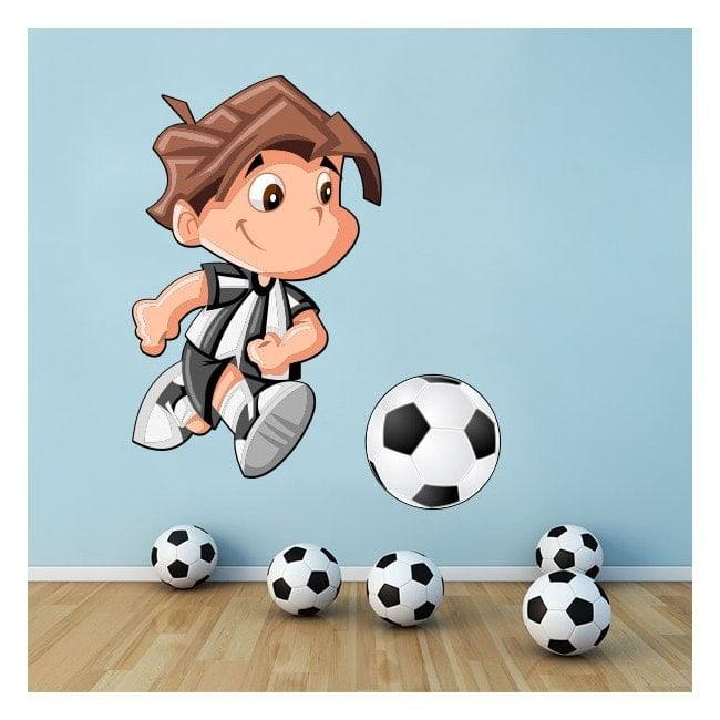 Joueur de football pour enfants en vinyle
