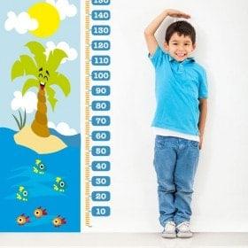 Mesure des jours de plage pour enfants en vinyle