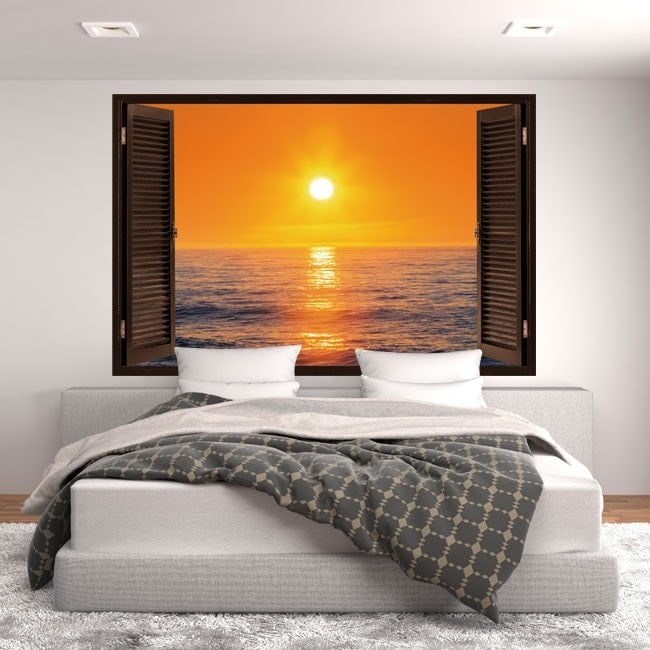 Windows 3D coucher de soleil