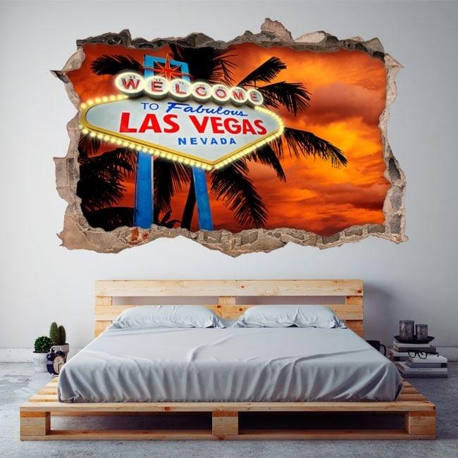 Poster 3D de vinyle Las Vegas