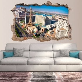 Vinyle murale 3D rotative Las Vegas