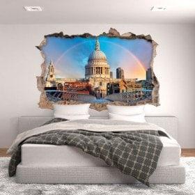 Vinyle Rainbow 3D Londres