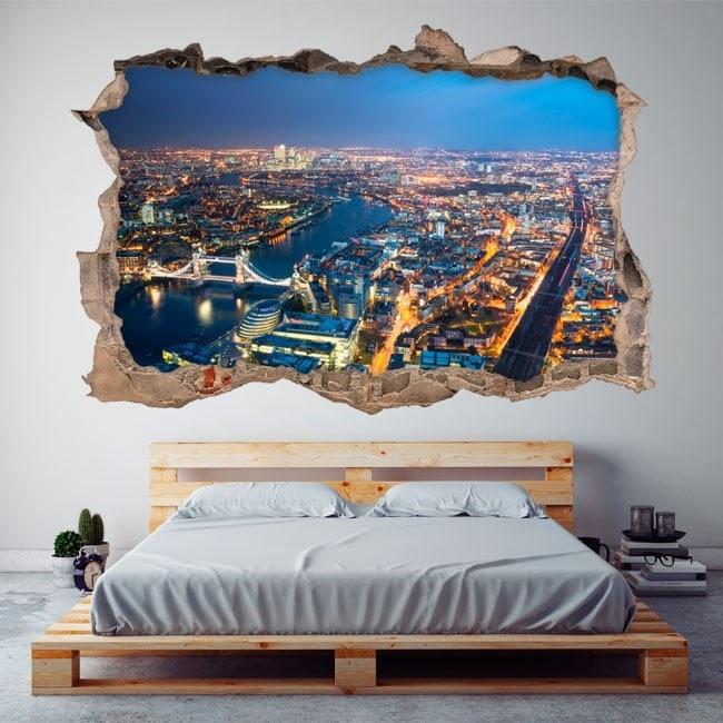 Vue aérienne 3D de vinyle de Londres