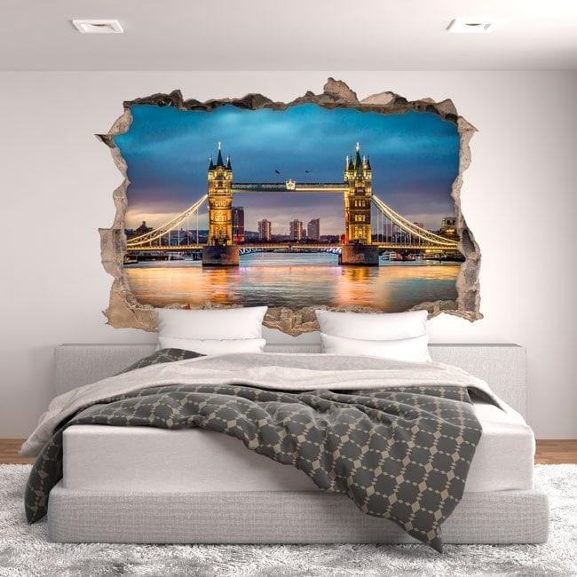 Tour du pont de Londres 3D vinyle