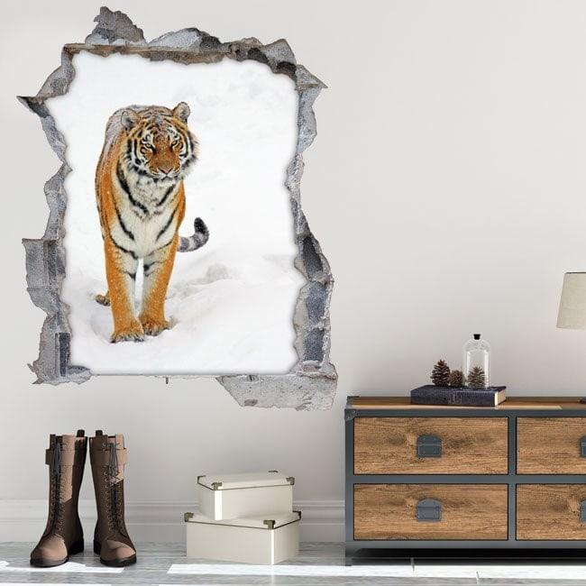 Tigre de Sibérie 3D de vinyle