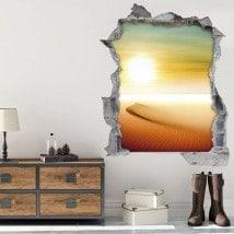 Vinyl 3D soleil dans le désert