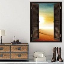 Windows 3D soleil dans le désert