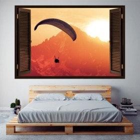 Montagnes de parapente 3D Windows