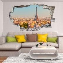 Mur de trou de vinyle Paris Tour Eiffel