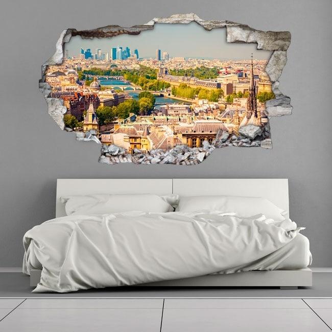 Mur 3D du trou vinyle Paris