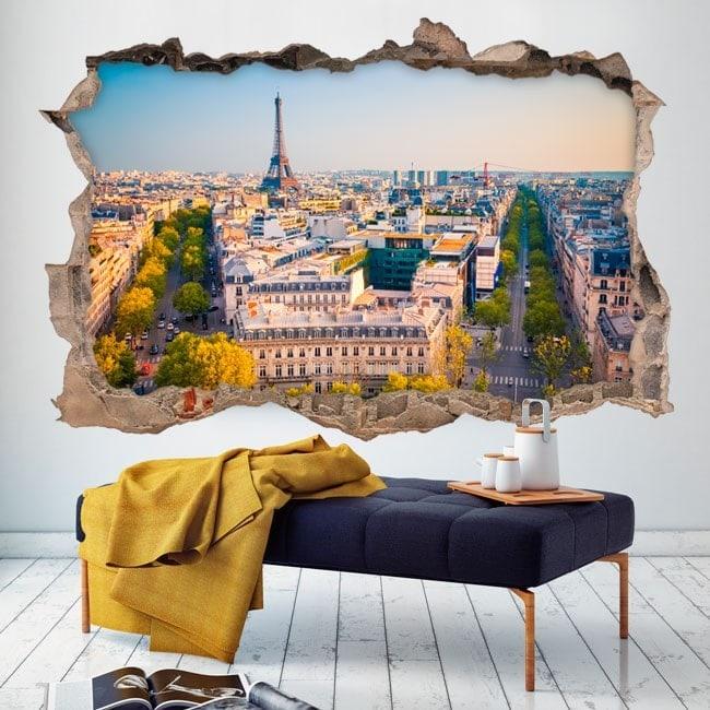 Mur de vinyle cassé Paris
