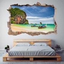 Vinyl 3D plage Railay Thaïlande