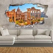 Ruines de vinyle 3D romaines à Rome