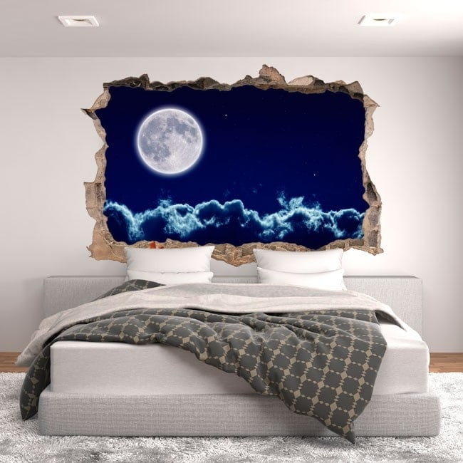 Vinyle de lune 3D