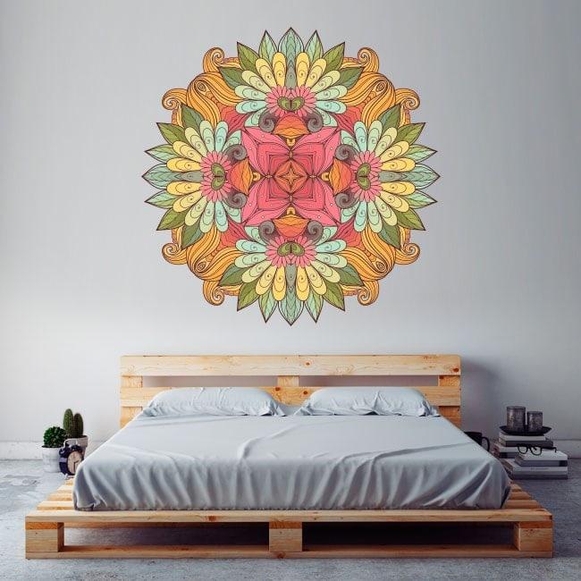 Vinyl mural Mandala French 5709