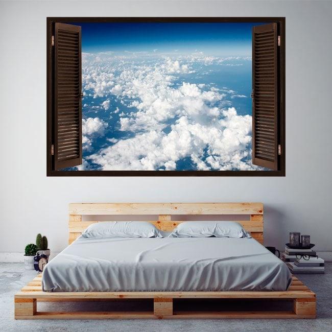 Nuages de fenêtres de vinyle dans le ciel