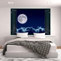 Fenêtres en vinyle 3D pleine lune