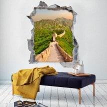 Vinyl 3D grande muraille de Chine