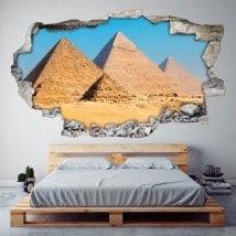 Pyramides 3D de vinyle de Gizeh