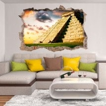 Vinyl 3D pyramide Chichen Itza