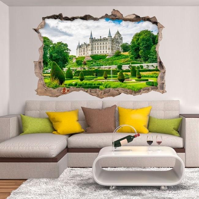 Vinyl 3D Château de Dunrobin Ecosse