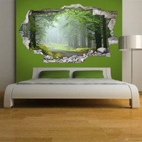 Nature et route de murs 3D de vinyle